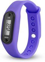 Digitale LCD Stappenteller - calorie - loopafstand - steps - teller - stappenteller - Paars