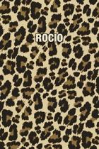 Rocio: Personalized Notebook - Leopard Print (Animal Pattern). Blank College Ruled (Lined) Journal for Notes, Journaling, Dia