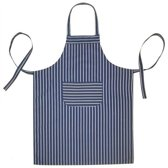 Homéé® Keukenschorten BBQ Apron blauw gestreept 240g. p/m2 - 70x100cm
