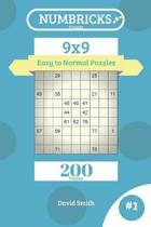 Numbricks Puzzles - 200 Easy to Normal Puzzles 9x9 Vol.1