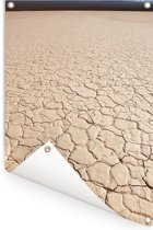 Close-up beeld van de vorm van een zoutvlakte in El Leoncito in Argentinië Tuinposter 120x180 cm - Tuindoek / Buitencanvas / Schilderijen voor buiten (tuin decoratie) XXL / Groot formaat!