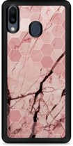 Galaxy M20 Softcase hoesje Pink Marble
