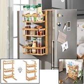 Multifunctioneel opbergrek - Staand & hangend te gebruiken - Als keukenrek / badkamerrek - Hangend aan (koel)kast of staand op vloer - Decopatent®