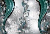 Fotobehang Floral Pattern Abstract   XXXL - 416cm x 254cm   130g/m2 Vlies