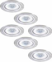 Philips Chandler - Inbouwspots - LED - Ø91mm - Aluminium - Set 6 spots