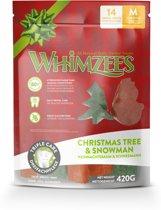 Whimzees Variety Bag Snowman Tree - Hondensnacks - 15 cm - 14 x 30 g - Medium