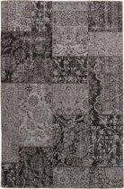 Vintage vloerkleed met Retro Patchwork Patroon 240X340 DonkerGrijs/Zwart
