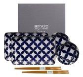 Tokyo Design Studio Kotobuki Sushi Set - 6-delig - 2-persoons - in fraaie geschenkdoos