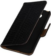 Snake Bookstyle Hoes voor LG Optimus L70 Zwart