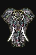 Password Log: Internet Password Logbook Large Print with Tabs - Mandala elephant Cover