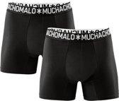 Muchachomalo Basiscollectie Light cotton Heren Boxershort - 2 pack - Zwart - Maat S