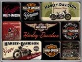 Nostalgic Art Harley-Davidson Bikes set van 9 magneten