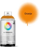 MTN oranje spuitbus op waterbasis - 300ml lage druk en matte afwerking spuitverf - Kindvriendelijke verf geschikt voor binnen en buiten gebruik, voor vele doeleinden, zoals klussen, graffiti, hobby en kunst