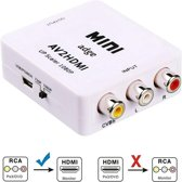 Tulp Naar HDMI Converter - AV / Composiet RCA To HDMI Audio Video Kabel Adapter Converter - Inclusief Kabel - Adge®