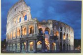 Canvas op houten frame - Colosseum in Rome met 6 leds