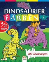 Dinosaurier f�rben 1 - Nachtausgabe: Malbuch f�r Kinder von 4 bis 12 Jahren - 25 Zeichnungen - Band 1