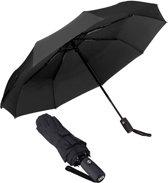 TravelMore Automatische Stormparaplu – Automatisch, opvouwbaar & Windproof tot 100km p/u - Ø 107 cm - Zwart
