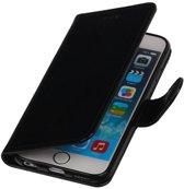 Zwart Smartphone TPU Booktype Apple iPhone 6/6s Wallet Cover Hoesje
