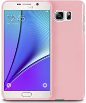 Xssive TPU Back Cover en 1x Tempered Glass voor LG G5 - Gelly - Licht Roze