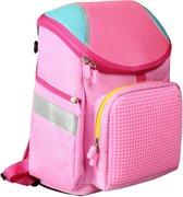 Upixel Super Class School Bag - Kinderrugzak - DIY Pixel Art - Bubblegum Roze