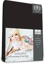Bed-Fashion jersey topdek hoeslaken Zwart - 160 x 220 cm - Zwart