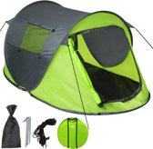 TecTake -  Pop-up tent waterdicht groen / grijs - 401675