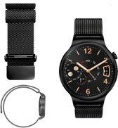 AA Commerce Milanees bandje - Huawei Watch GT - Zwart