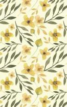 Mustard Yellow Blossoms - Lined Notebook with Margins - 5