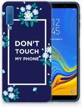 Samsung Galaxy A7 (2018) TPU Hoesje Flowers Blue DTMP