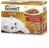 Gourmet Gold Fijne Hapjes - Kattenvoer - 12 x 85 g
