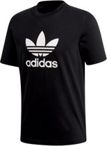 adidas Originals Trefoil T-Shirt Heren - Black - Maat XL