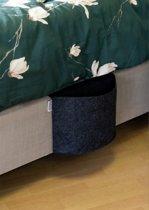 BlezLiving – Bedside Pocket - Opbergzak voor aan het bed - Bed organizer – Luxe XL formaat - Gemêleerd antraciet vilt