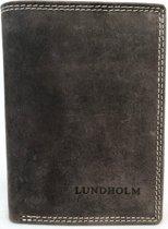 Lundholm - Leren heren portemonnee heren leer - staand model - Taupe Bruin