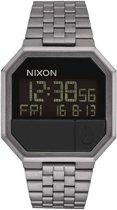 Nixon A158632 Re-Run all gunmetal - Horloge - 38mm - Zilver
