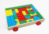 Blokkenkar blokken wagen hout 47 delig