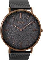 OOZOO Vintage Grijs horloge  (44 mm) - Grijs