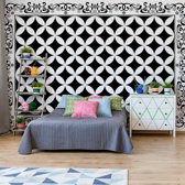 Fotobehang Black And White Pattern   VEM - 104cm x 70.5cm   130gr/m2 Vlies