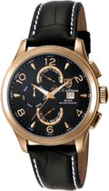 Invicta - Men's Leather - SC0111 - Polshorloge - Zwart