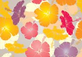 Fotobehang Flowers Abstract | M - 104cm x 70.5cm | 130g/m2 Vlies