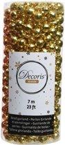 Gouden kerstversiering discobal kralenketting 700 cm - kerstslinger