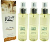 Therme Skincare Hammam Massage Oil - Multipack 3x125ml
