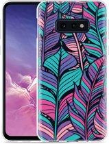 Galaxy S10e Hoesje Design Feathers