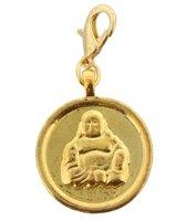 Munt / Hanger met Boeddha - Ø 3 cm - Goudkleurig - Musthaves
