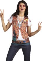 3 stuks: Fotorealistisch shirt - Hippie - Small
