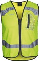 WOWOW Drone veiligheidsvest met rits - voor fietsen hardlopen wandelen - maat M - geel