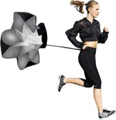 Sprint Speed Weerstand Parachute - Fitness Resistance Workout Chute Kite - Zwart