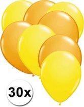 Ballonnen Geel & Oranje 30 stuks 27 cm