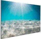Zonlicht op de zeebodem Aluminium 60x40 cm - Foto print op Aluminium (metaal wanddecoratie)