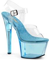 EU 39 = US 9   SKY-308T   7 Heel, 2 3/4 Tinted PF Ankle Strap Sandal