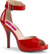 Pleaser Pink Label Hoge hakken -45 Shoes- EVE-02 Rood
